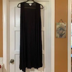 LuLaRoe S Joy vest black knit lightweight